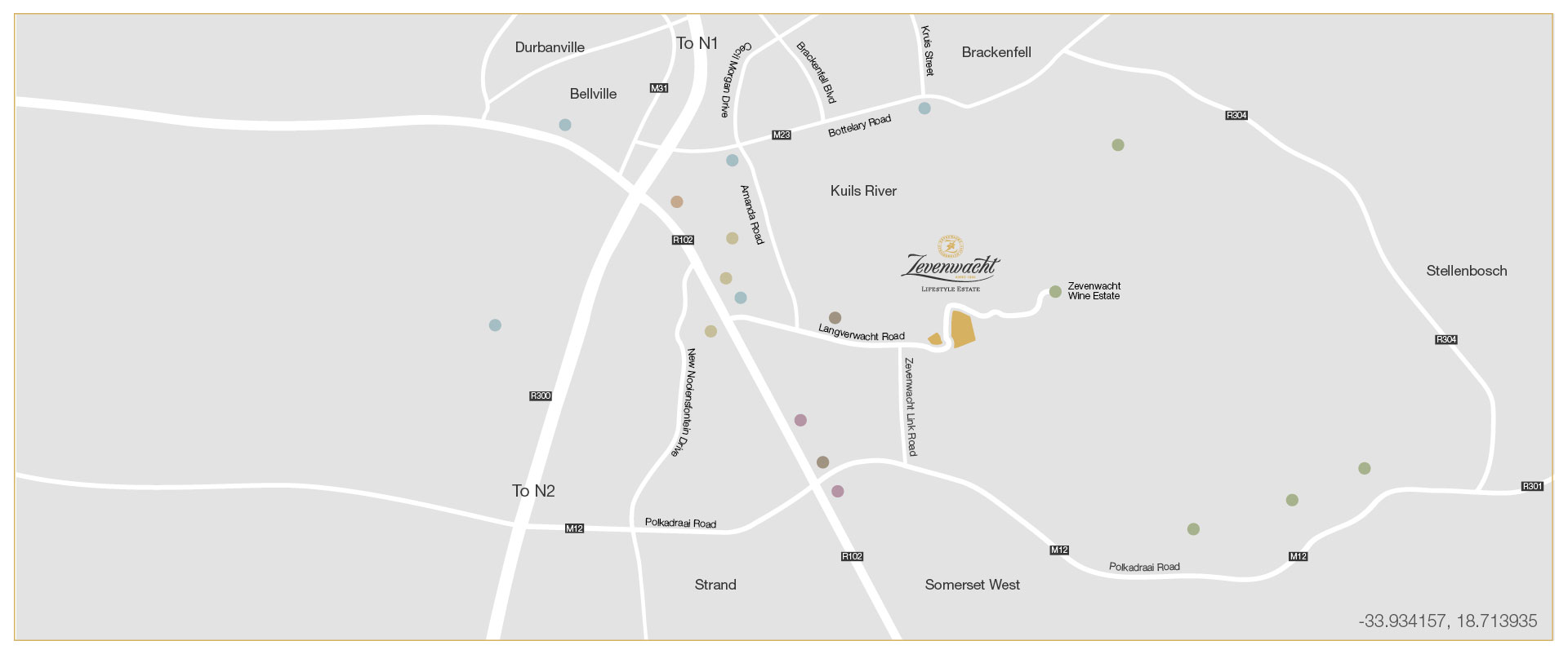 Zevenwacht-Lifestyle-Estate-Location-Map